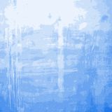 Blue Grainy Messy Wall Royalty Free Stock Image