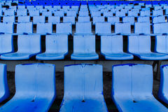 Blue grandstand Stock Photos