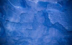 Blue Granite Background With Vignette. Geological, Texture. Stock Photo