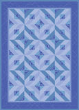Blue Granny Quilt Stock Photo