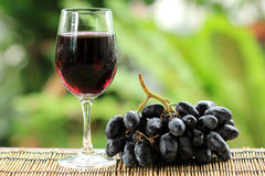 Blue grape fruit juice Stock Photo