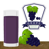 The blue grape. Vector illustration logo for whole ripe fruit blue grape green stem leaf,cut sliced. Grape drawing pattern consisting of tag label peel fruits Stock Image