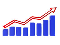 Blue graph Royalty Free Stock Photo