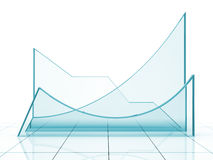 Blue graph Royalty Free Stock Photos