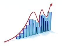 Blue graph Stock Photography