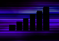 Blue Graph. This is a bar Graph Royalty Free Stock Photos