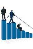 Blue Graph of Business People Royalty Free Stock Images