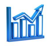 Blue graph icon Royalty Free Stock Photos