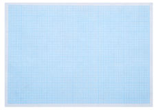 Blue graph paper Royalty Free Stock Photo
