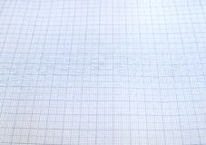 Blue graph paper Royalty Free Stock Photography
