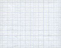 Blue graph paper on white background. Royalty Free Stock Photo