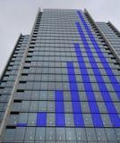 Blue graph Skyscraper Stock Image
