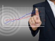 Blue graph success Stock Image