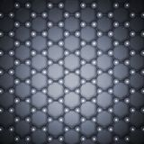 Blue graphene layer structure 3d, top view. Graphene layer structure, schematic molecular model, top view. Blue toned 3d illustration Stock Photography