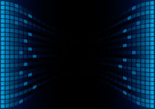 Blue Graphic Equalizer Display. (editable vector enable Royalty Free Stock Photos