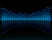 Blue Graphic Equalizer Display. Royalty Free Stock Image
