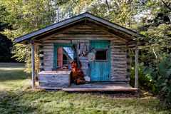 Blue Grass Band Instruments. In old rustic cabin setting Royalty Free Stock Images