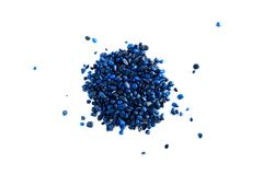 Blue Gravel Stock Image