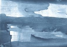 Blue Gray abstract watercolor painting Stock Images
