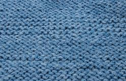 Blue gray black wool threads in the fabric royalty free stock images