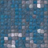 Blue gray brown irregular mosaic royalty free stock photo