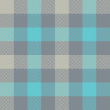 Blue gray check plaid seamless pattern Royalty Free Stock Photo
