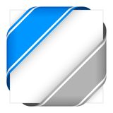 Blue and gray christmas corner ribbons Stock Image