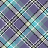 Blue gray color check plaid seamless fabric texture. Vector illustration Stock Photography