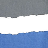 Blue and gray fabric stripes with white text space Royalty Free Stock Photos