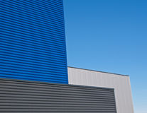 Blue and gray facade. Of a building in the Netherlands Stock Photos
