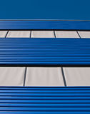 Blue and gray facade. Of a building in the Netherlands Royalty Free Stock Images