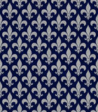 Blue and Gray Fleur De Lis Textured Fabric Background. That is seamless and repeats Royalty Free Stock Image