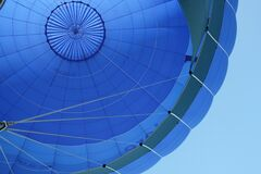 Blue and Gray Hot Air Balloon Stock Photography