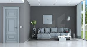 Blue and gray lounge Royalty Free Stock Photos
