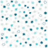 Blue gray navy messy little stars. Blue gray navy many messy little stars beautiful holiday seamless pattern on white background Royalty Free Stock Photography