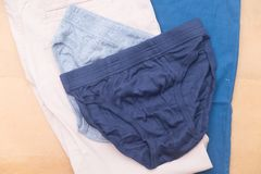 Blue and gray of male underwear. Blue and gray of new male underwear Royalty Free Stock Images