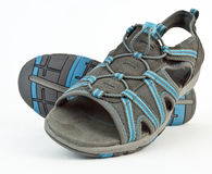 Blue and Gray Open toe Sandals Stock Photos