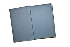 Blue-Gray Pages in a Book Stock Image