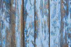 Blue gray paint mottled wooden doors Stock Photos