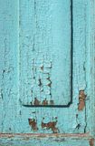 Blue gray paint mottled wooden doors Royalty Free Stock Photos