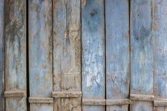 Blue gray paint mottled wooden doors Stock Photos