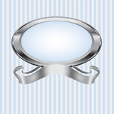 Blue and Gray Pearl Frame Stock Photo