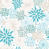 Blue and gray plants seamless pattern background Royalty Free Stock Photography