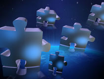 Blue gray puzzle Royalty Free Stock Photography
