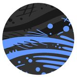 Blue and gray sticker Stock Image