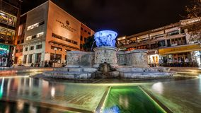 Blue and Gray Water Fountain Near Buildings Stock Photo