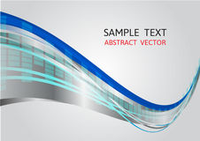 Blue and gray wave vector background Royalty Free Stock Images