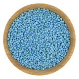 Blue and grean glass beads Stock Photo