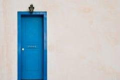 Blue Greek door Stock Images