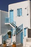 Blue Greek Doors and Windows Royalty Free Stock Photo
